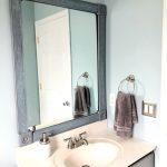 DIY Bathroom Mirror Frame — One Room Challenge Week 4