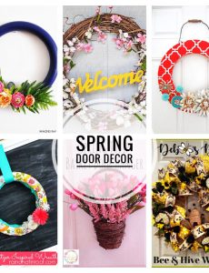 I love these beautiful DIY wreath and door ideas for spring!
