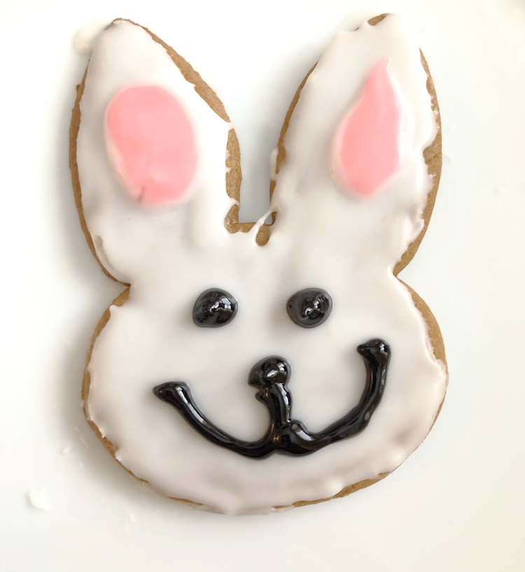 white bunny Easter gingerbread cookies