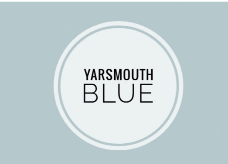 Yarsmouth Blue by Benjamin Moore. This is my choice for my home's upstairs bathroom.