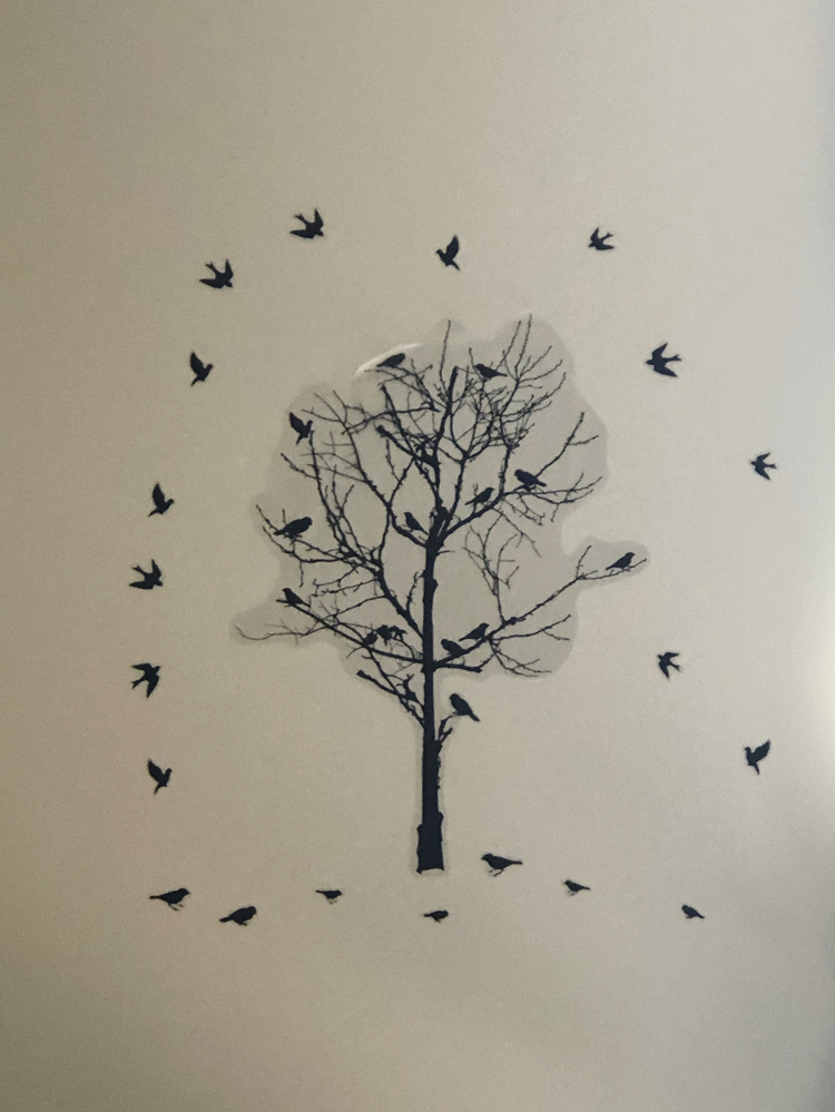 birds and tree wall art and mural