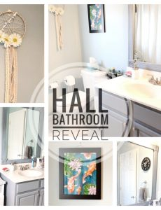 Lauren of Mom Home Guide shares how she DIYed a bathroom update for her daughters in six weeks