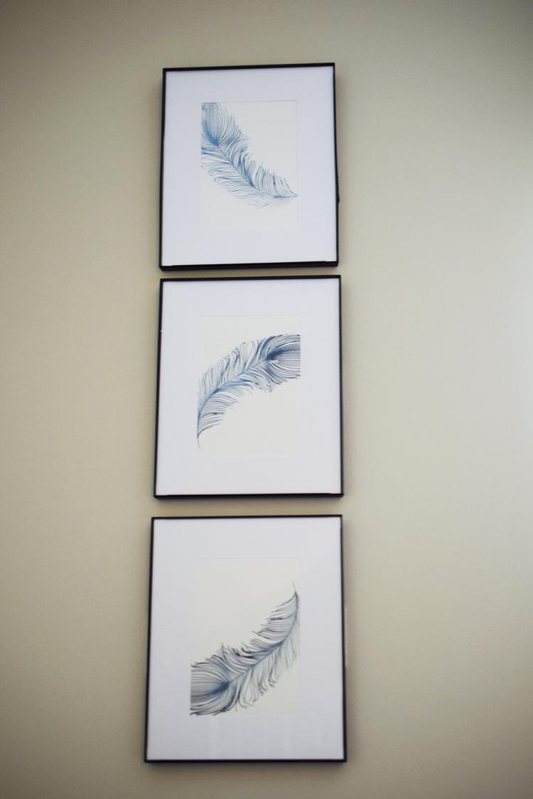 easy DIY stenciled wall art