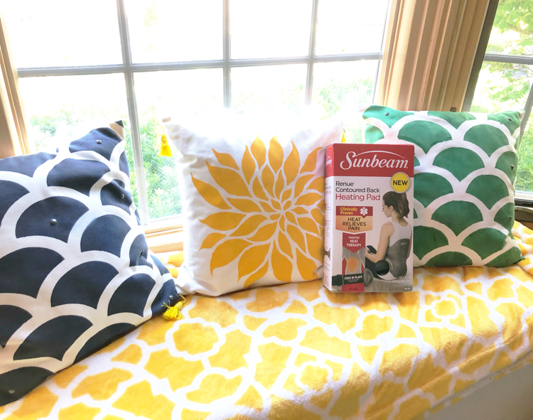 The new Sunbeam® Renue® Heating Pad is great for relaxing sore, tired back muscles