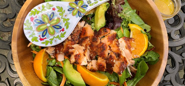 Smoky Ginger & Orange Salmon Salad