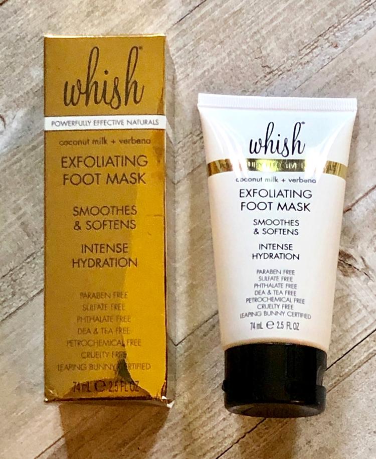 Whish exfoliating foot mask in the summer FabFitFun box