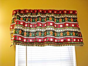 Christmas window valence