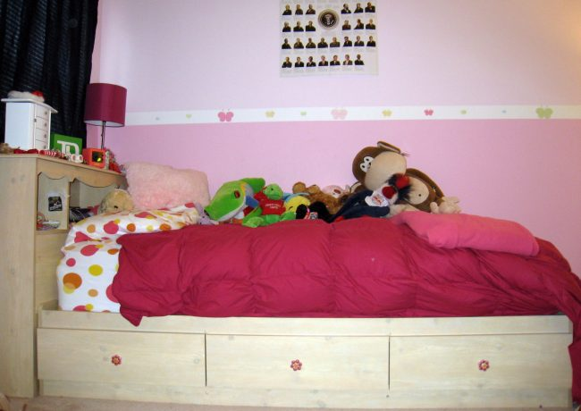 Lily Rose twin bed with drawers underneath