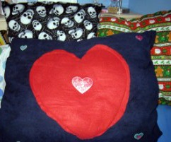 Valentine's Day, Halloween and Christmas pillows