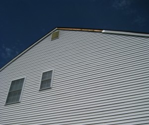 roof of two-story home