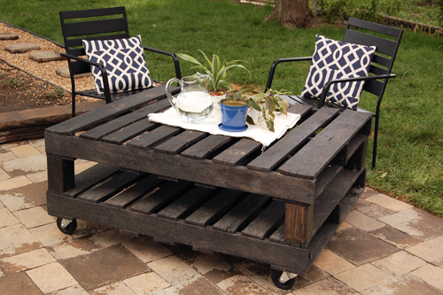 pallet, coffee, table, DIY, how