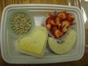 cookie cutter sandwich lunch