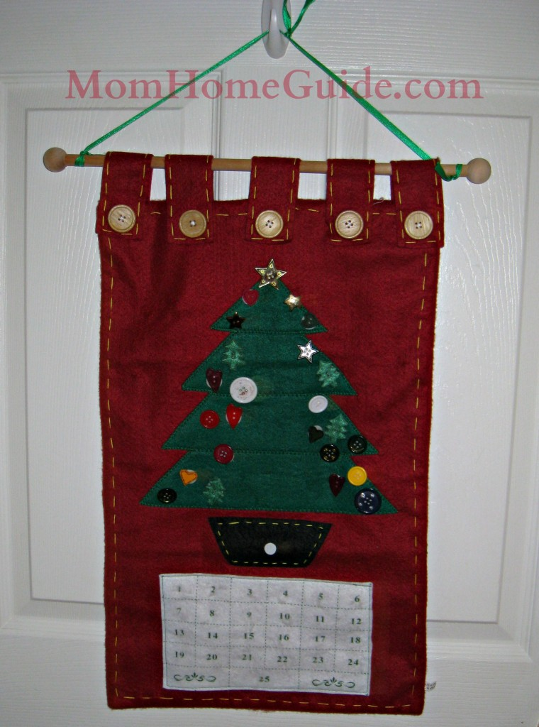 felt advent calendar, Christmas
