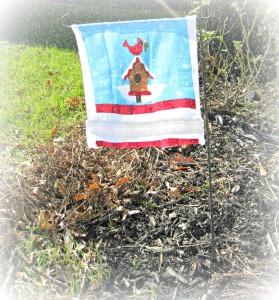 garden, flag, craft, DIY, $1 store