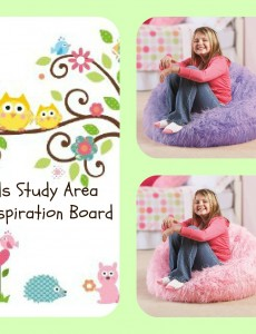 kids, study area, beanbag