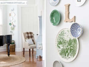 decorating, plates, wall