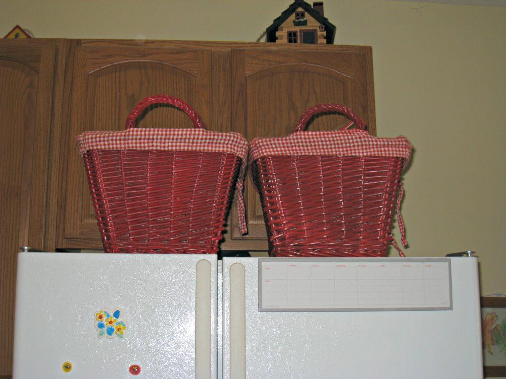 kitchen, basekets, refrigerator, storage