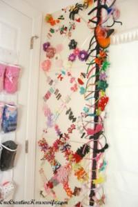 closet, organize, girls, hair, bands, clips