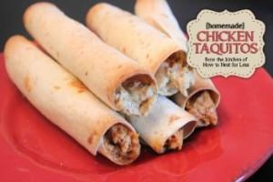 cheesy, chicken, taquitos, recipe