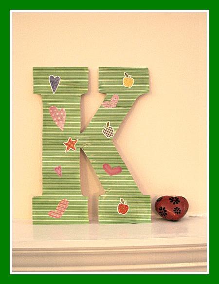craft, letter, Mod Podge, decoupage, craft