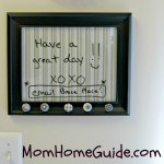 picture frame, dry erase board