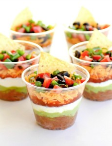 Seven Layer Dip for a Super Bowl Party