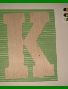 Mod Podge, craft, paper, letter