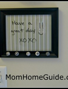 dry erase, picture frame, board, DIY