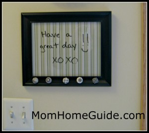 dry erase, picture frame, board, DIY