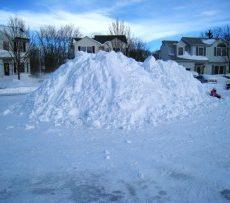 snow, hill, sledding