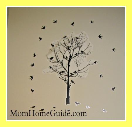 tree, birds, wall decal
