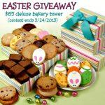 Easter Giveaway Tower, cookies, brownies