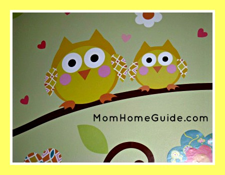 Cute owl wall decal