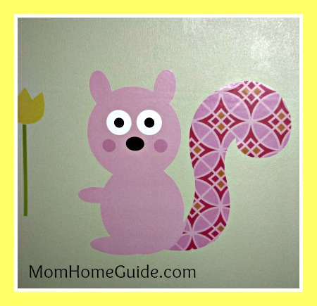 Cute wall mural for kids