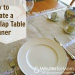 How to Make a Fringed Burlap Table Runner