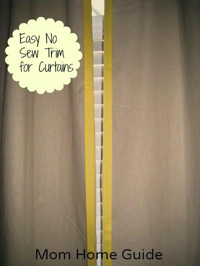 ribbon trim, no sew, velcro, curtains, craft