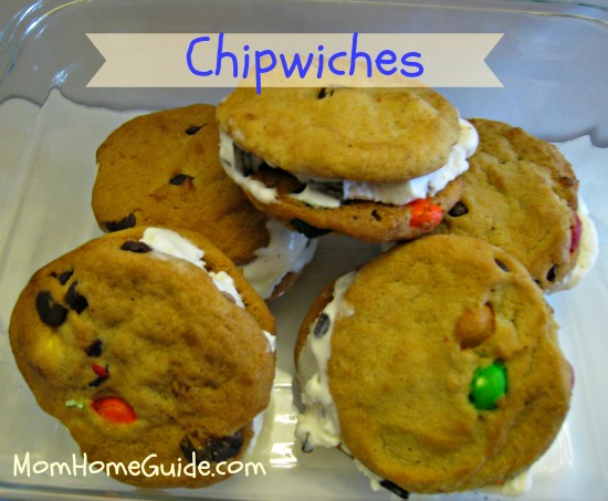 ice cream, chocolate chip, cookie,chipwich