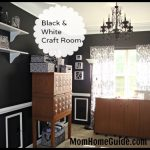 Black and White Craft Room Design