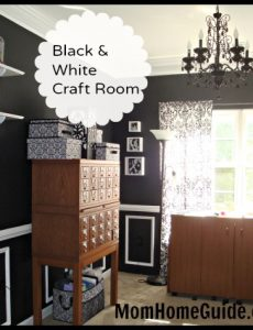 black, white, craft, room, remodel