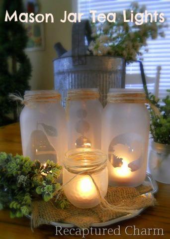 mason jar, tea, light, craft