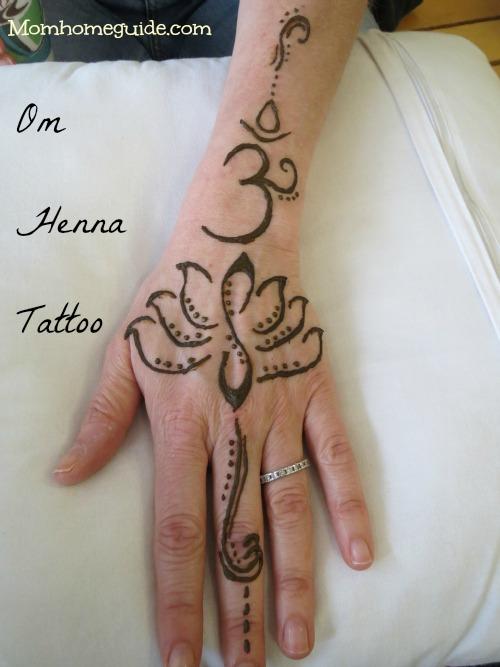 om, henna, tattoo