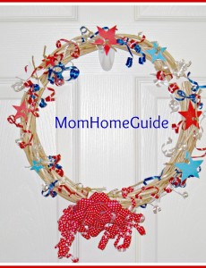 craft, decor, wreath, patriotic, fourth of july