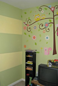 striped, chalkboard paint wall, lullaby paints