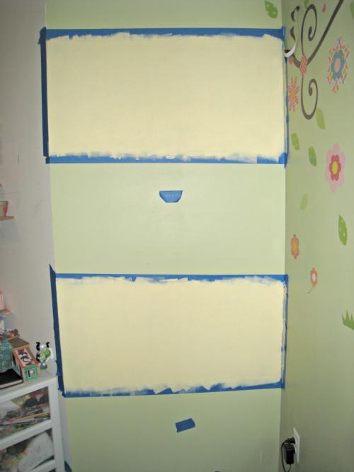 chalkboard paint, wall, stripe, low-voc paint, lullaby paints