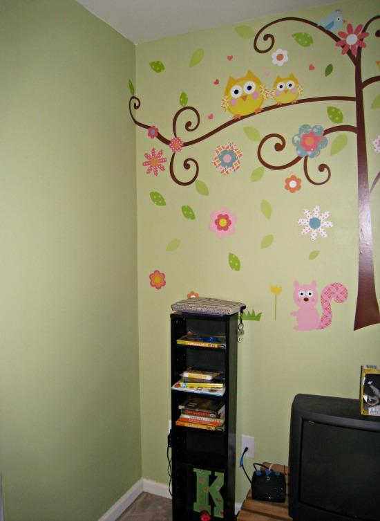 hall, wall, mural, kids, tree, owl
