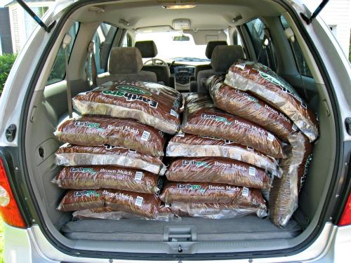bags, mulch