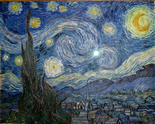 The Starry Night, MOMA, museum of modern art, van gogh