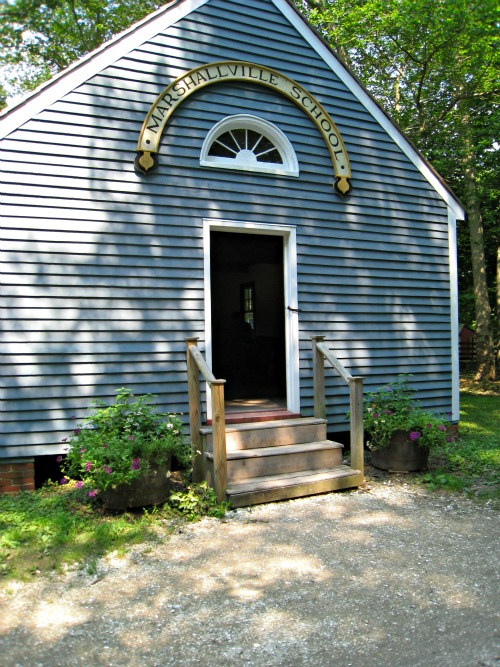 old-fashioned, historic, schoolhouse, cold spring village, new jersey