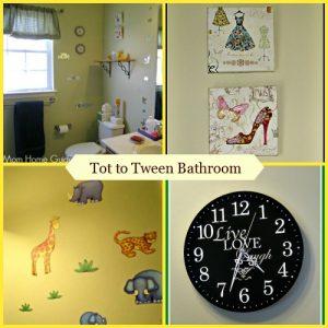 tot, toddler, tween, bathroom, girls, decor