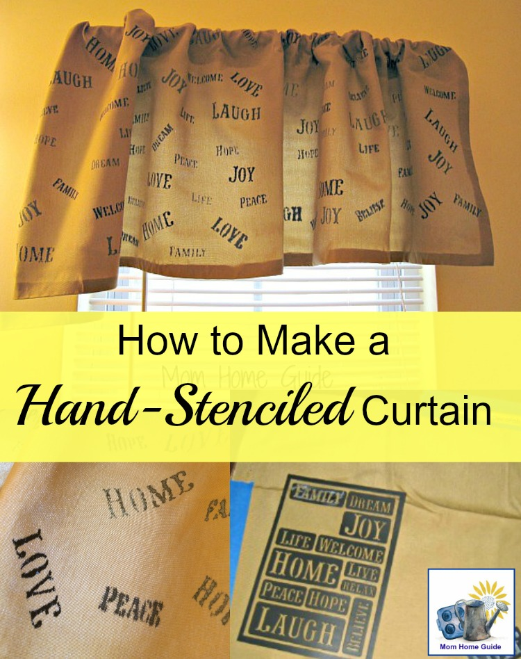 It's easy to make a hand-stenciled curtain with fabric pens!